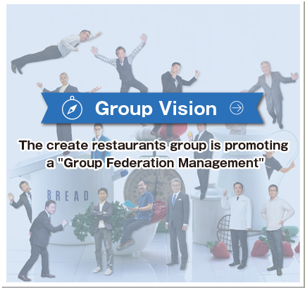 "Group Vision The create restaurants group is promoting a ""Group Federation Management"""